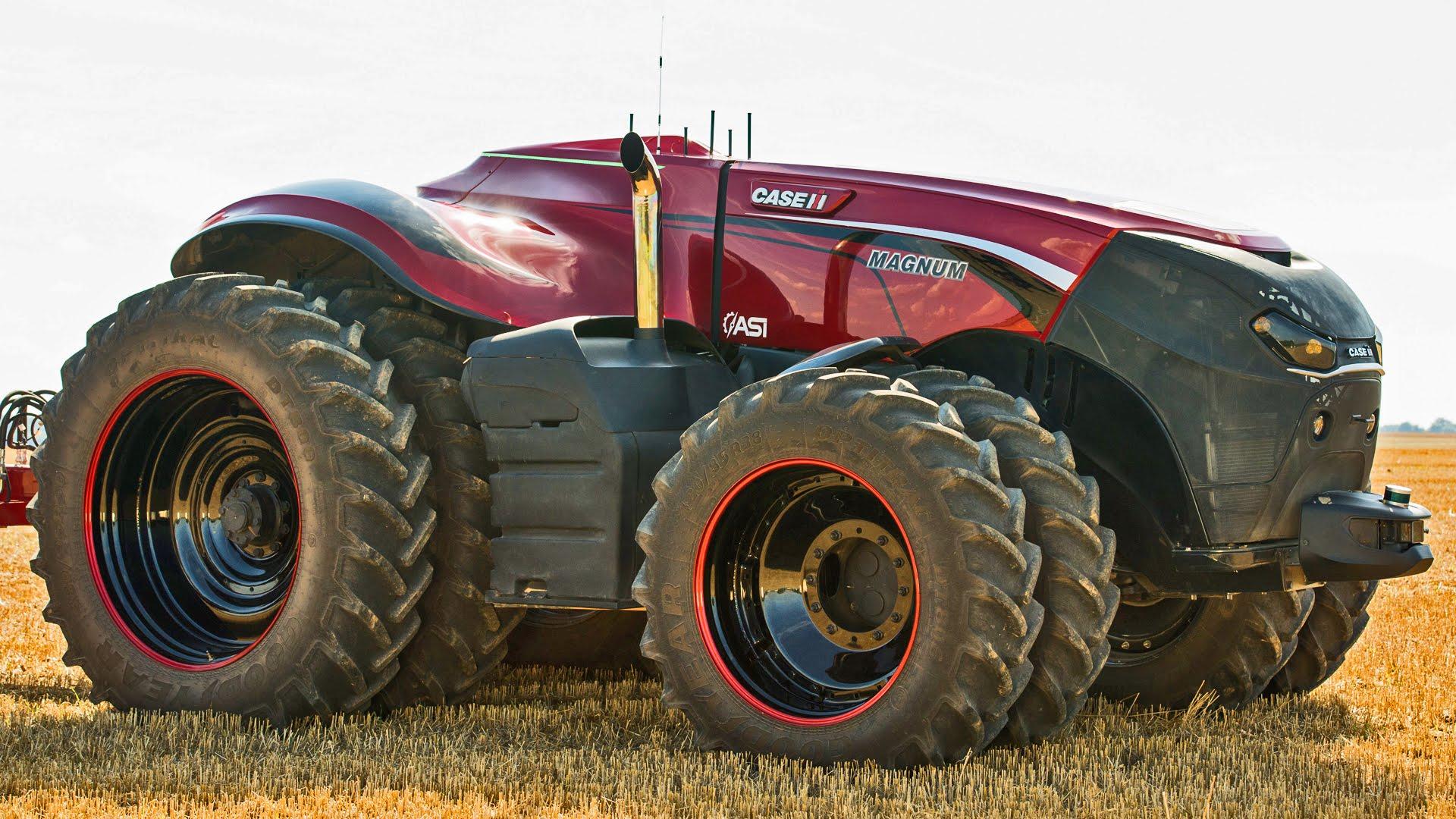 Case ih and new holland d voilent le concept de tracteur for Case agricole