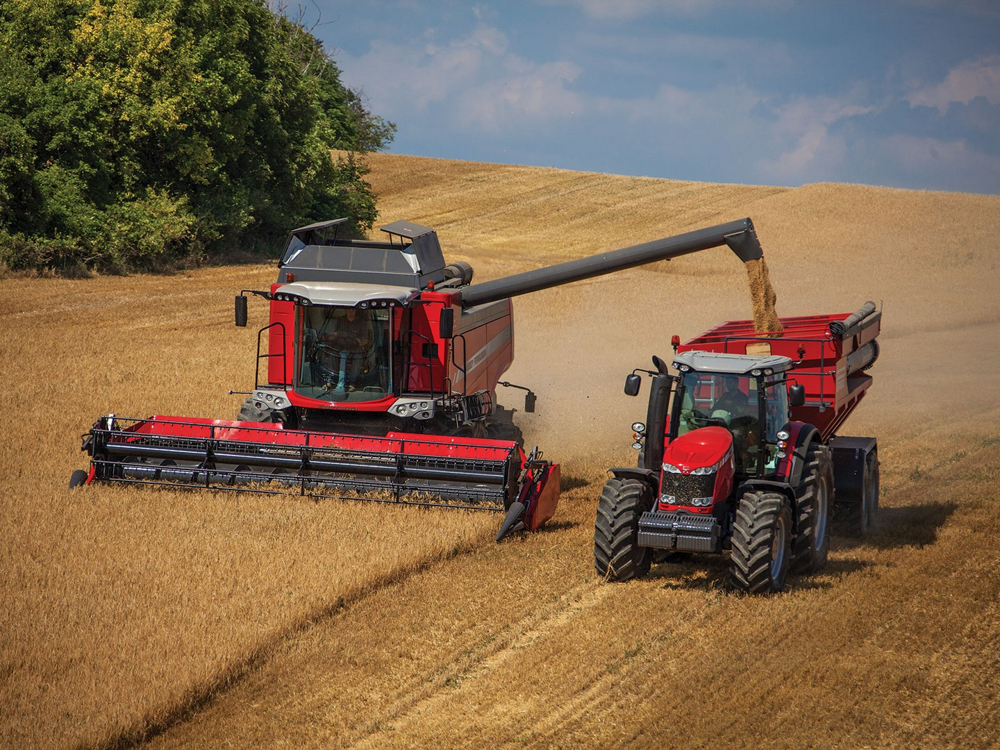 Massey Ferguson Combines : Machinery ownership alternatives for small farms