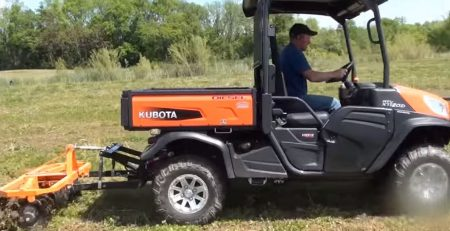ATVs with harrow