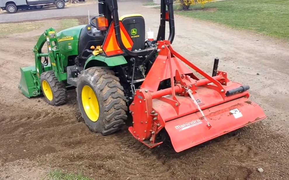 Subcompact Tractor with Tiller