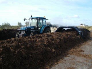 80 hp Tractor Pulling Compost Turner