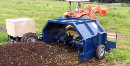 Compact Tractor Pulling Compost Turner