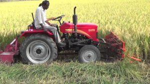 Front Rice Cutter PTO-powered
