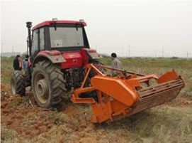 tractor with cassava harvester 1