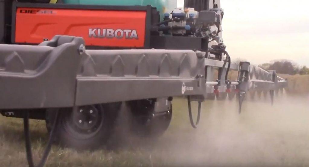 Kubota RTV spraying