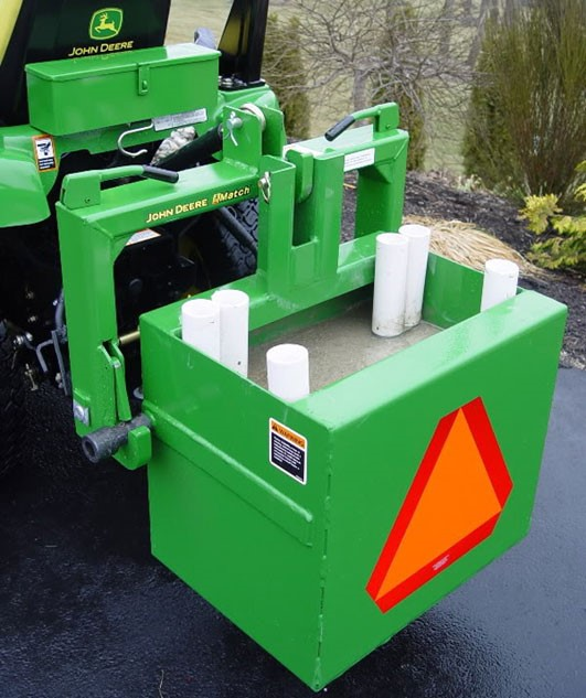 Tractor with ballast box