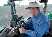 tractor with GPS in agriculture