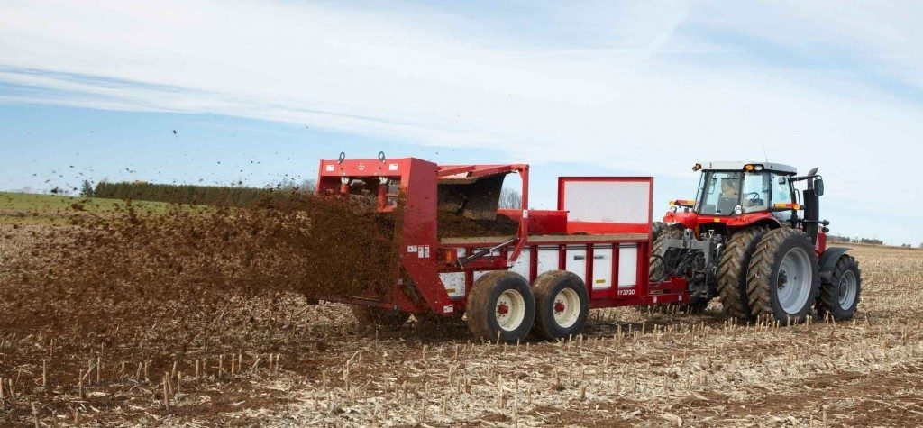 fertilizer vertical-beater spreader