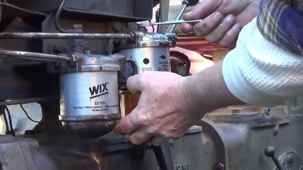 changing fuel filter in a massey tractor