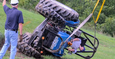 tractor accidents demo rollover